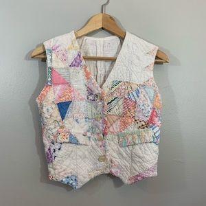 Vintage Handmade Patchwork Quilted Vest